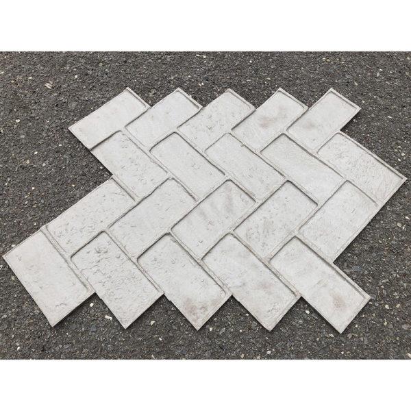 Готовый штамп для декоративного бетона Кирпич Ёлочкой F3161