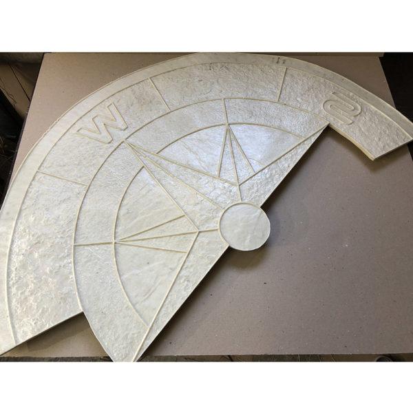 Готовый штамп для декоративного бетона Роза ветров F3240A